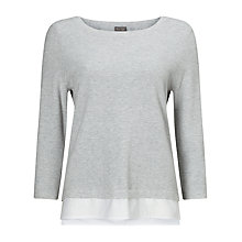 Buy Phase Eight Rufina Ripple Stitch Jumper, Silver Grey Online at johnlewis.com