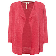Buy White Stuff Peashoot Linen-Blend Cardigan, Strawberry Pink Online at johnlewis.com