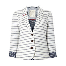 Buy White Stuff Leminton Stripe Blazer, Buttermilk Online at johnlewis.com