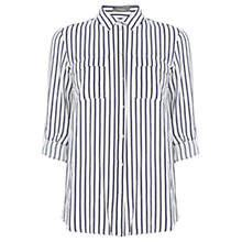 Buy Oasis Vertical Striped Shirt, Multi/Blue Online at johnlewis.com