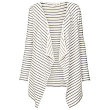 Buy Fat Face Jersey Waterfall Cardigan, Ivory Online at johnlewis.com