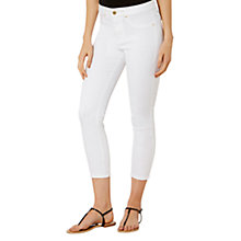 Buy Karen Millen Skinny Capri Jeans, White Online at johnlewis.com