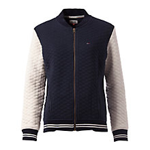 Buy Hilfiger Denim Bomber Jacket, Navy Blazer/Egret Online at johnlewis.com