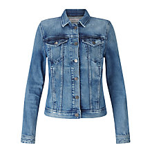 Buy Calvin Klein Jet Trucker Jacket, Rich Light Blue Online at johnlewis.com