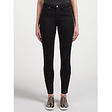 Buy Calvin Klein High Rise Sculpted Skinny Jeans, Infinite Black Stretch Online at johnlewis.com