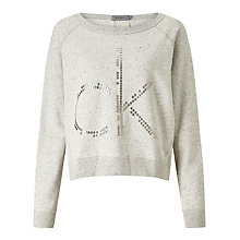 Buy Calvin Klein Jesa Logo Sweatshirt, Marshmallow Online at johnlewis.com