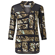 Buy Calvin Klein Wadune All-Over-Print Tunic Top, Torn Camo Olive Online at johnlewis.com