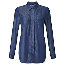 Buy Calvin Klein 2 Pocket Boyfriend Shirt, Calm Blue Online at johnlewis.com