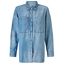 Buy Calvin Klein Eveline Denim Shirt, Mid Indigo Online at johnlewis.com