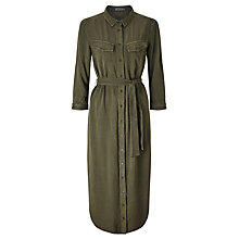 Buy Calvin Klein Reagan Shirt Dress, Forest Night Online at johnlewis.com