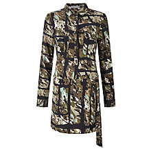Buy Calvin Klein Dalia Utility Shirt Dress, Torn Camo Olive Online at johnlewis.com