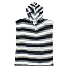 Buy Jigsaw Girls' Hooded Towel Kaftan, Navy/White Online at johnlewis.com