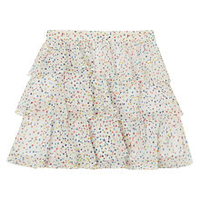 Buy Jigsaw Girls' Spot Print Skirt, Multi Online at johnlewis.com