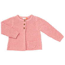 Buy John Lewis Baby Cardigan, Pink Online at johnlewis.com