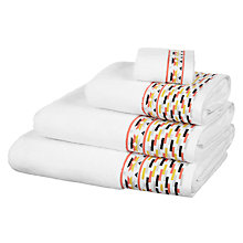 Buy John Lewis Fusion Native Border Towels Online at johnlewis.com