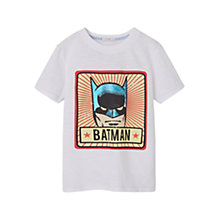Buy Mango Kids Boys' Batman T-Shirt, White Online at johnlewis.com