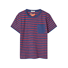 Buy Mango Kids Boys' Stripe T-Shirt, Red/Blue Online at johnlewis.com