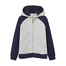 Buy Mango Kids Boys' Hooded Sweatshirt, Navy Online at johnlewis.com
