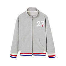 Buy Mango Kids Boys' Embroidered Zip Sweatshirt Online at johnlewis.com