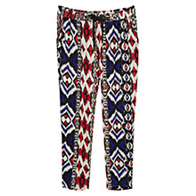 Buy Mango Printed Baggy Trousers, Medium Blue Online at johnlewis.com