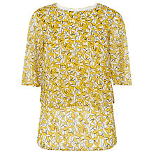 Buy L.K. Bennett Silk Karo Daisy Printed Top Online at johnlewis.com