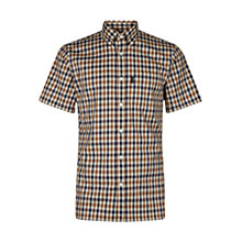 Buy Aquascutum Emsworth Club Check Short Sleeve Shirt, Vicuna Online at johnlewis.com