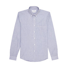 Buy Reiss Garcia Stripe Slim Fit Shirt, Blue Online at johnlewis.com