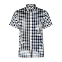 Buy Aquascutum Emsworth Club Check Short Sleeve Shirt, Blue Online at johnlewis.com
