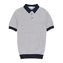 Buy Reiss Cosmo Contrast Polo Shirt, White Online at johnlewis.com