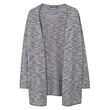 Buy Violeta by Mango Flecked Cotton-Blend Cardigan, Grey Online at johnlewis.com