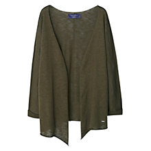 Buy Violeta by Mango Openwork Cotton-Blend Cardigan, Medium Green Online at johnlewis.com