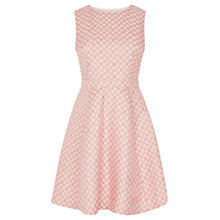 Buy Oasis Daisy Jacquard Skater Dress, Multi Pink Online at johnlewis.com