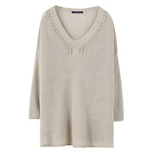Buy Violeta by Mango Linen Jumper, Light Pastel Brown Online at johnlewis.com