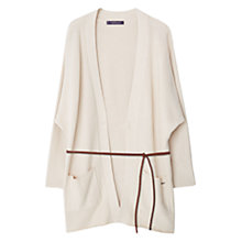 Buy Violeta by Mango Textured Cotton Cardigan, Natural White Online at johnlewis.com
