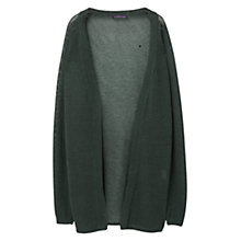 Buy Violeta by Mango Long Linen Cardigan, Dark Green Online at johnlewis.com