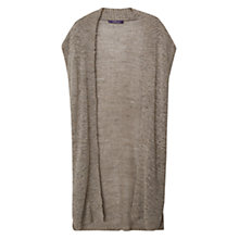Buy Violeta by Mango Light Knitted Gilet, Forest Green Online at johnlewis.com