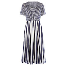 Buy Karen Millen Striped Fluid Dress, Blue/Multi Online at johnlewis.com