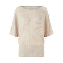 Buy Jigsaw Sunray Pleated Jumper, Stone Online at johnlewis.com