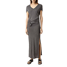Buy AllSaints Dhara Mar Long Dress, Mid Grey Marl Online at johnlewis.com