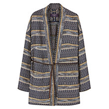 Buy Violeta by Mango Jacquard Jacket, Navy Online at johnlewis.com