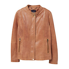 Buy Violeta by Mango Buckle Collar Leather Jacket Online at johnlewis.com
