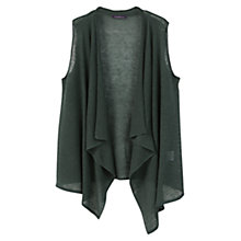 Buy Violeta by Mango Sleeveless Linen Cardigan, Dark Green Online at johnlewis.com