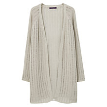 Buy Violeta by Mango Linen-Blend Cardigan, Light Pastel Brown Online at johnlewis.com