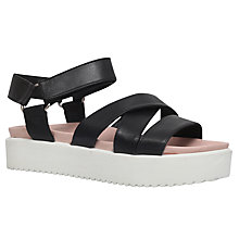 Buy KG By Kurt Geiger Miami Flatform Sandals, Black Online at johnlewis.com