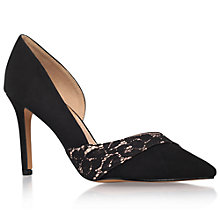 Buy Miss KG Cai Asymmetric Court Shoes, Black/Lace Online at johnlewis.com