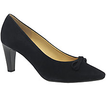 Buy Gabor Forest Bow Block Heeled Court Shoes, Navy Online at johnlewis.com