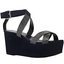 Buy Carvela Klaire Platform Wedge Heeled Sandals, Navy Online at johnlewis.com