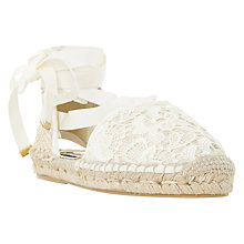 Buy Dune Glowe Lace Up Espadrilles Online at johnlewis.com