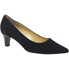 Buy Gabor Arnica 2 Pointed Toe Court Shoes, Navy Online at johnlewis.com
