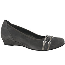 Buy Gabor Apollo Wide Wedge Heeled Pumps Online at johnlewis.com